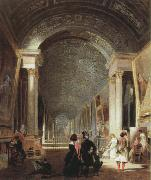 view of the grande galerie of the louvre Patrick Henry Bruce